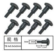 HG P601 Screw Parts-T head Step screw(8pcs) Parts-4x5.5x3x5mm-W05006,HG P601 RC Truck Parts 6x6 1/10 Parts