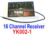 HG P602 Parts-YK002-1 Receiver,16 cHANNEL Receiver board,HG P602 1/12 Parts