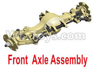 HG P801 P802 Parts-8ASS-P0020 Front Axle Assembly-Green or Yellow color,HG P801 P802 RC Truck Spare parts Accessories,HG P801 P802 1:12 RC Car Parts,U.S. Military Truck Parts