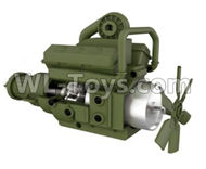 HG P801 P802 Parts-8ASS-P0003 Transmission gearbox assembly-Green,HG P801 P802 RC Truck Spare parts Accessories,HG P801 P802 1:12 RC Car Parts,U.S. Military Truck Parts