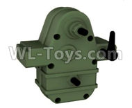 HG P801 P802 Parts-8ASS-P0021 Transmission assembly-Green or Yellow Color,HG P801 P802 RC Truck Spare parts Accessories,HG P801 P802 1:12 RC Car Parts,U.S. Military Truck Parts