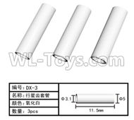 HG P801 P802 Parts-DX-3 Planetary sleeve tube-3pcs-?3.1X11.5mm,HG P801 P802 RC Truck Spare parts Accessories,HG P801 P802 1:12 RC Car Parts,U.S. Military Truck Parts