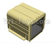 HG P801 P802 Parts-8ASS-P0011 Engine cover(Green or Yellow),HG P801 P802 RC Truck Spare parts Accessories,HG P801 P802 1:12 RC Car Parts,U.S. Military Truck Parts