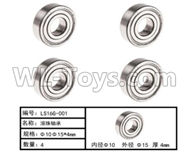 HG P801 P802 Parts-LS16G-001 Ball Bearing(6pcs)-Φ10XΦ15X4mm,HG P801 P802 RC Truck Spare parts Accessories,HG P801 P802 1:12 RC Car Parts,U.S. Military Truck Parts