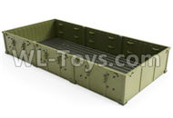 HG P801 P802 Parts-8ASS-P0010 Truck Body assembly(Green),HG P801 P802 RC Truck Spare parts Accessories,HG P801 P802 1:12 RC Car Parts,U.S. Military Truck Parts