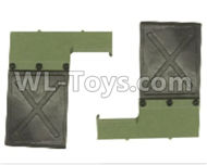 HG P801 P802 Parts-8ASS-125 801 Mud plate(Green-Can only be used for HG-801),HG P801 P802 RC Truck Spare parts Accessories,HG P801 P802 1:12 RC Car Parts,U.S. Military Truck Parts