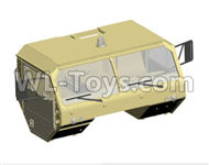 HG P801 P802 Parts-8ASS-P0006 Front Truck head assembly(Green or Yellow),HG P801 P802 RC Truck Spare parts Accessories,HG P801 P802 1:12 RC Car Parts,U.S. Military Truck Parts