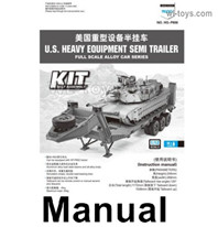HG P806 Parts Manual,Instruction for the HG P806 Semi Trailer in English,HG P806 TRASPED Semi Trailer Parts,HG P806 1/12 Truck Parts