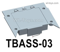 HG P806 Parts Battery box assembly. TBASS-03. Two Colors you can choose. Yellow or Green,HG P806 TRASPED Semi Trailer Parts,HG P806 1/12 Truck Parts