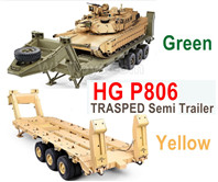 HG P806 TRASPED Semi Trailer,HG P806 1:12 Heavy Equipment Semi Trailer for U.S M747