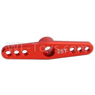 HSP 94188 spare parts-122237-02 Upgrade Anodized Aluminum Servo,Servo arm,Steering Arm 25T-Red,Upgrade HSP 94188 RC Car Truck Parts,Upgrade HSP 1:10 RC Truck Spare parts Accessories,HSP 94188 Upgrade Parts
