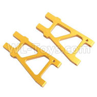 HSP 94188 spare parts-188821 188021 (08050)-03 Upgrade Aluminum Rear Lower Arm(2pcs)-Golden,Upgrade HSP 94188 RC Car Truck Parts,Upgrade HSP 1:10 RC Truck Spare parts Accessories,HSP 94188 Upgrade Parts