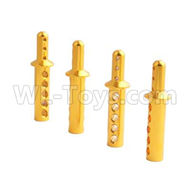 HSP 94188 spare parts-188837 188037-03 Aluminum Body Post(4pcs)-Golden,Upgrade HSP 94188 RC Car Truck Parts,Upgrade HSP 1:10 RC Truck Spare parts Accessories,HSP 94188 Upgrade Parts