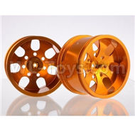 HSP 94188 spare parts-188839-02 Upgrade Aluminum Wheel Rim ,Upgrade Metal Wheel hub(2pcs)-Orange,Upgrade HSP 94188 RC Car Truck Parts,Upgrade HSP 1:10 RC Truck Spare parts Accessories,HSP 94188 Upgrade Parts