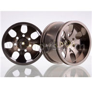 HSP 94188 spare parts-188839-04 Upgrade Aluminum Wheel Rim ,Upgrade Metal Wheel hub(2pcs)-Gray,Upgrade HSP 94188 RC Car Truck Parts,Upgrade HSP 1:10 RC Truck Spare parts Accessories,HSP 94188 Upgrade Parts
