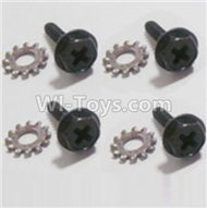 HBX Survivor MT Parts-Wheel Lock Screws+Lock Pads(4 set) Parts-12618