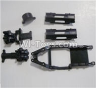 HBX Survivor MT Parts-Gear Box Housing & Upper Deck,Second Floor plate & Battery Cover Parts-12601R
