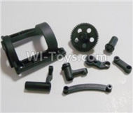 HBX Survivor MT Parts-Motor Seat + Big Gear+ Sttering Parts Parts-12602R,HaiBoXing urvivor MT 12811 12811B RC Car Parts