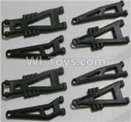 HBX Survivor MT Parts-Front And Rear Suspension Arms,Front And Rear Swing Arm(Total 8PCS) Parts-12603,HaiBoXing urvivor MT 12811 12811B RC Car Parts