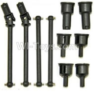 HaiBoxing HBX 12811 Parts-Front and Rear Drive Shaft Kit(Dog bones)-4pcs & Dogbone Cups(6pcs) Parts-12604R,HaiBoXing urvivor MT 12811 12811B RC Car Parts