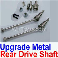 HBX Survivor MT Parts-Upgrade Metal Rear CVD Shaft & nuts & screws & wheel pins & Metal Differential Cup-(Total For Rear Car) Parts-12711,HaiBoXing urvivor MT 12811 12811B RC Car Parts