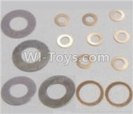 HBX Survivor MT Parts-Washers-4PCS(φ6.3X12.5X0.2mm) & Washers-8PCS(φ2.7X5.5X0.3mm) & Washers-2PCS(φ8.2X10.5X0.3mm) Parts-12617