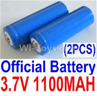 HBX Survivor MT Parts-Official 3.7V 1100mAH Battery(Li-ion Batteries)-2pcs-Parts-12619A, (This parts now has no produce ,you can buy the upgrade 1500mah battery ,and buy 12600BT Chassis,Bottom frame(For 1500mah) together)