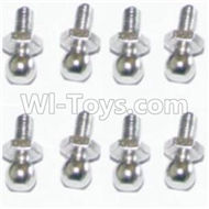HBX Survivor MT Parts-Ball Studs(8pcs) Parts-H013,HaiBoXing urvivor MT 12811 12811B RC Car Parts