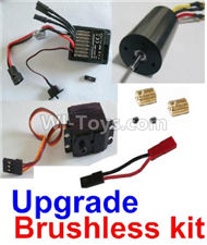 HBX Survivor MT Parts-Upgrade Brushless kit(Include ESC,Brushless motor,Sero,motor gear,screws,and wire) Parts