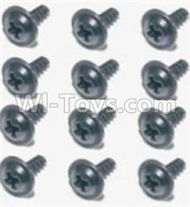 HBX Survivor MT Parts-Flange Head Self Tapping Screws 2.6X8mm(12PCS) Parts-S160