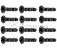 HBX Survivor MT Parts-Round Head Self Tapping Screws-2.6X25mm(12PCS) Parts-S201