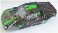 HBX Survivor MT Parts-Buggy Body shell,Car shell-Green Parts-12685,HaiBoXing urvivor MT 12811 12811B RC Car Parts