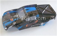 HBX Survivor MT Parts-Buggy Body shell,Car shell-Blue Parts-12686,HaiBoXing urvivor MT 12811 12811B RC Car Parts