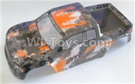 HBX Survivor MT Parts-Truck Body shell,Car shell-Yellow Parts-12687,HaiBoXing urvivor MT 12811 12811B RC Car Parts