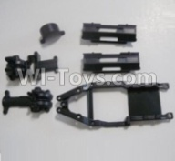 HaiBoXing HBX 12812 Parts-Gear Box Housing & Upper Deck,Second Floor plate & Battery Cover Parts-12601R,HaiBoXing HBX 12812 Parts-Parts