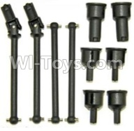 HaiBoXing HBX 12812 Parts-Front and Rear Drive Shaft Kit(Dog bones)-4pcs & Dogbone Cups(6pcs) Parts-12604R,1/12 HaiBoXing HBX 12812 Survivor ST RC Truck Spare parts Accessories