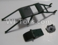 HaiBoXing HBX 12812 Parts-Anti-roll cage and Front anti-collision(Can only be used for 12812 car) Parts-12608,1/12 HaiBoXing HBX 12812 Survivor ST RC Truck Spare parts Accessories