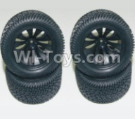 HaiBoXing HBX 12812 Parts-Wheel Parts-Wheels Complete(4PCS)-(Include the Wheel hub and Tire lether) Parts-12056,1/12 HaiBoXing HBX 12812 Survivor ST RC Truck Spare parts Accessories