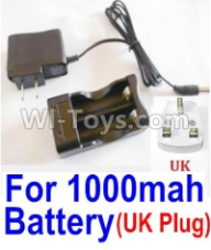 HaiBoXing HBX 12812 Parts-Charge Box and Charger(United Kingdom Standard Socket)-(Can only be used for 1000mah Battery) Parts-25209,1/12 HaiBoXing HBX 12812 Survivor ST RC Truck Spare parts Accessories
