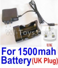 HaiBoXing HBX 12812 Parts-Charge Box and Charger(United Kingdom Standard Socket)-(Can only be used for 1500mah Battery) Parts-12644,1/12 HaiBoXing HBX 12812 Survivor ST RC Truck Spare parts Accessories