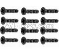 HaiBoXing HBX 12812 Parts-Screw Parts-Countersunk Self Tapping Screw 2X15mm(12PCS) Parts-S011,1/12 HaiBoXing HBX 12812 Survivor ST RC Truck Spare parts Accessories