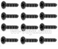 HaiBoXing HBX 12812 Parts-Screw Parts-Countersunk Self Tapping Screws-2.6X8mm(12PCS) Parts-S020 ,1/12 HaiBoXing HBX 12812 Survivor ST RC Truck Spare parts Accessories
