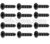 HaiBoXing HBX 12812 Parts-Screw Parts-Round Head Self Tapping Screw-2.6X15mm(12PCS) Parts-S107,1/12 HaiBoXing HBX 12812 Survivor ST RC Truck Spare parts Accessories