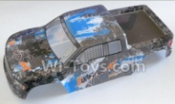 HaiBoXing HBX 12812 Parts-Body shell,Car shell-Blue Parts-12687,1/12 HaiBoXing HBX 12812 Survivor ST RC Truck Spare parts Accessories