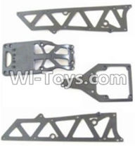 HBX 12881 VORTEX Parts-Parts-Front side panel & motor cover & upper Steering seat Parts-12002P,HaiBoXing HBX 12881 VORTEX RC Car Parts