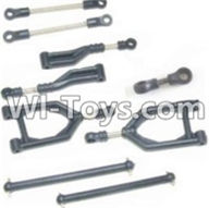 HBX 12881 VORTEX Parts-Front Upper or Rear Upper Swing Arm & Steering Linkage set & Servo Linkage Set & Servo shaft Parts-12003,HaiBoXing HBX 12881 VORTEX RC Car Parts