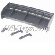 HBX 12881 VORTEX Parts-Tail wing & Column for the Car canopy Parts-12013,HaiBoXing HBX 12881 VORTEX RC Car Parts