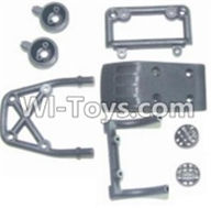 HBX 12881 VORTEX Parts-Front bottom seat Assembly & Light cover & Front upper seat Parts-12014,HaiBoXing HBX 12881 VORTEX RC Car Parts