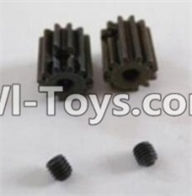 HBX 12881 VORTEX Parts-Motor Pinion Gears(2pcs)-13Teeth & Set Screws-3X3mm(2pcs) Parts-12026,HaiBoXing HBX 12881 VORTEX RC Car Parts