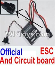 HBX 12881 VORTEX Parts-Receiver Parts-Official ESC and Circuit board Parts-12031N,HaiBoXing HBX 12881 VORTEX RC Car Parts